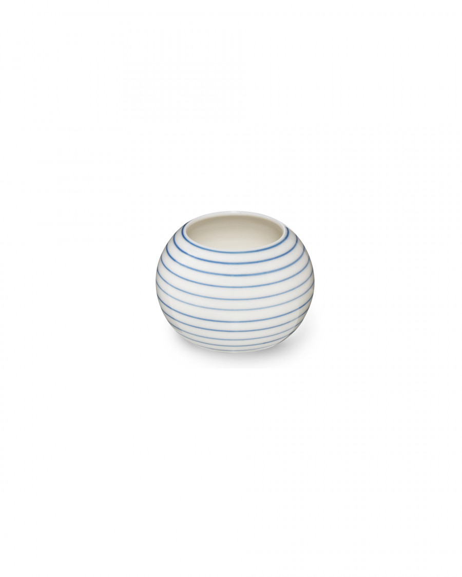 stripes sugar bowl narrow-blue