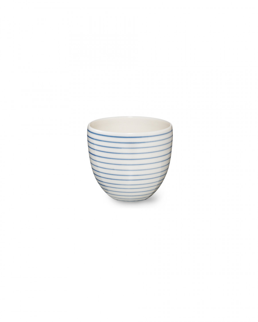 stripes cup narrow-blue