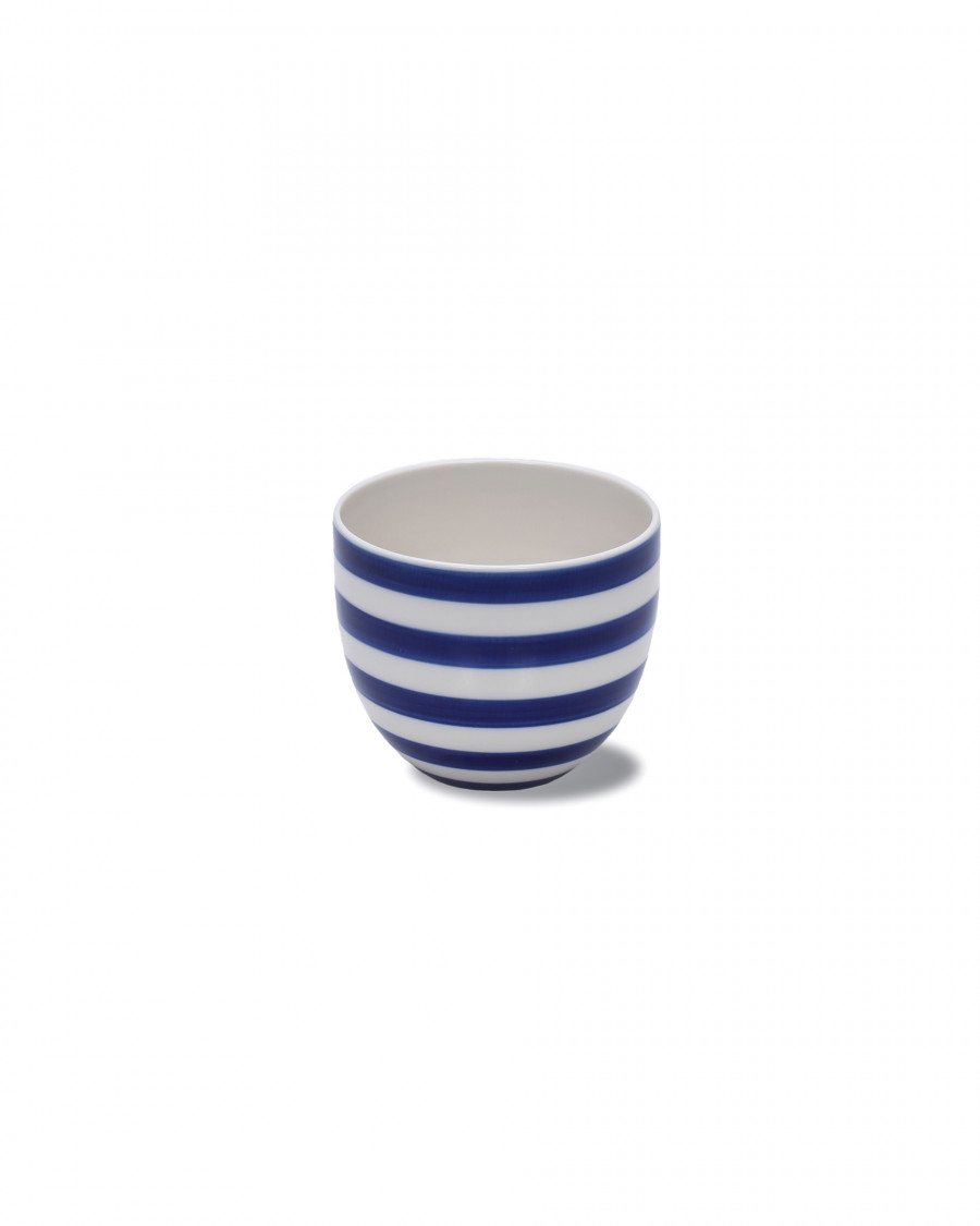 stripes cup wide-blue