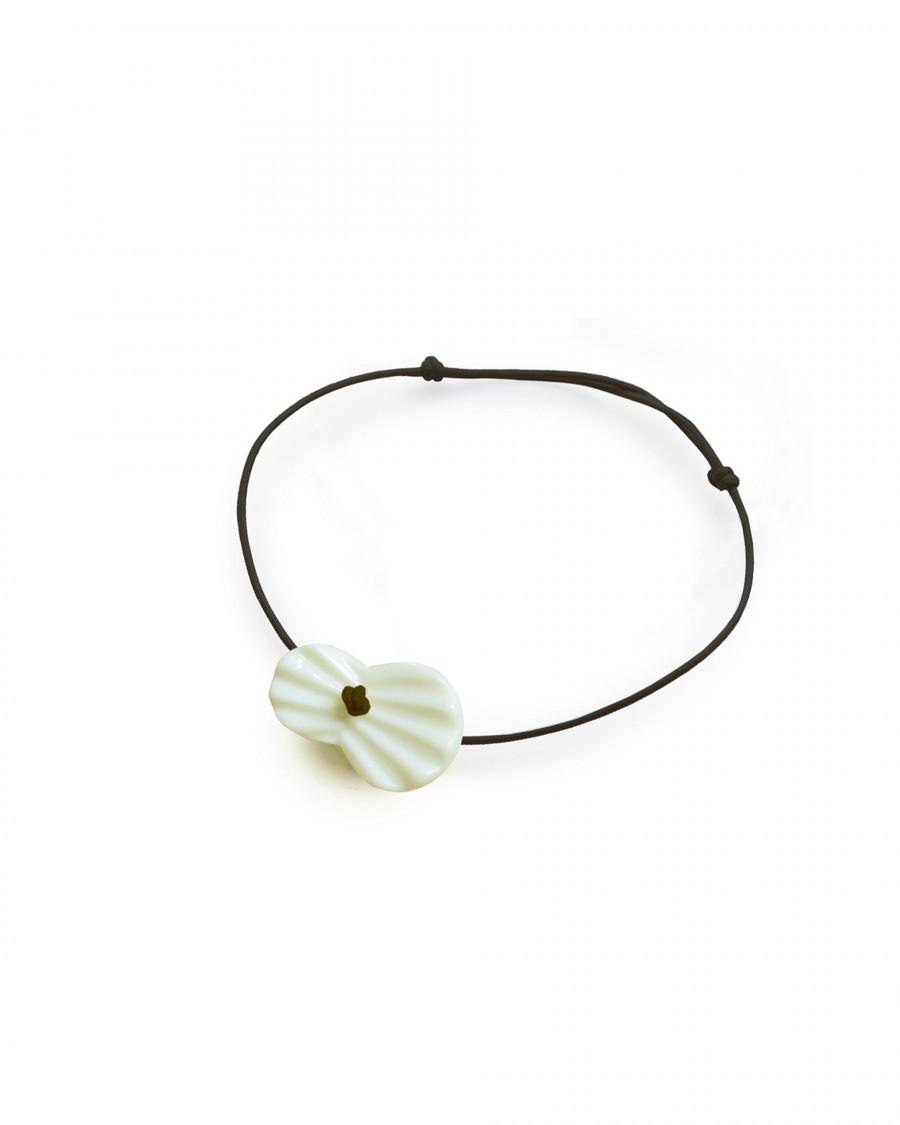 pleats bracelet-navy