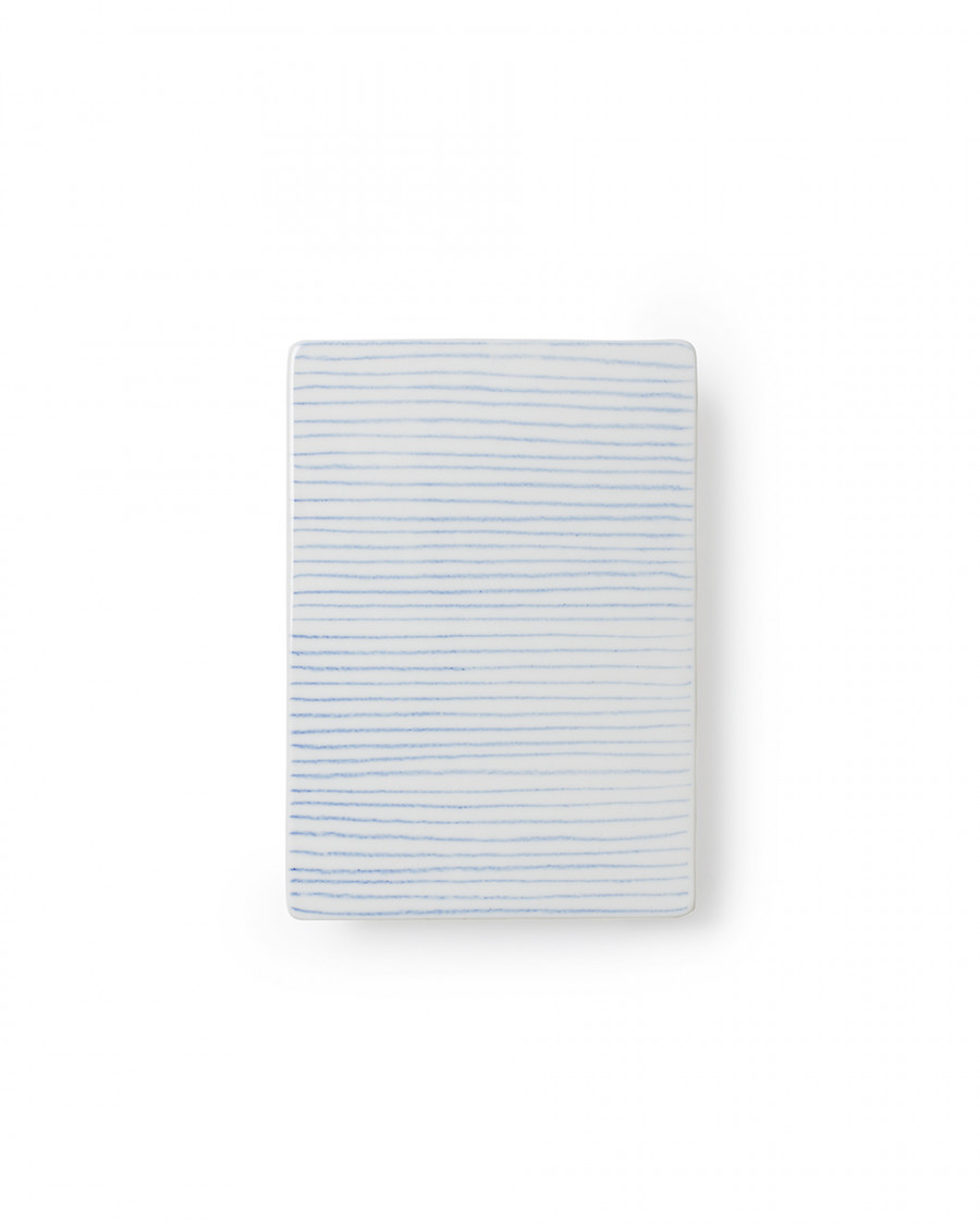 Stripes tile blue small