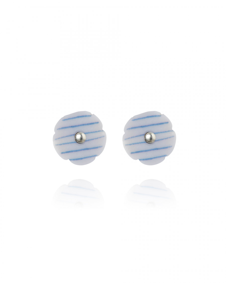 stripes studs mini stripe-blue