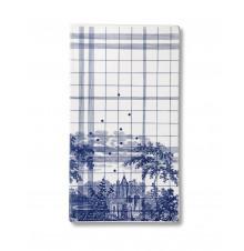 Ruth M tile landscape-blue large