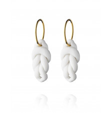 knots hoops large gold-white