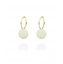 pleats hoops gold-white