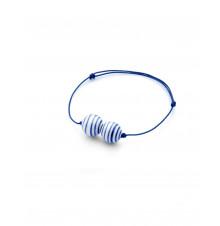 stripes bracelet two pearl narrow