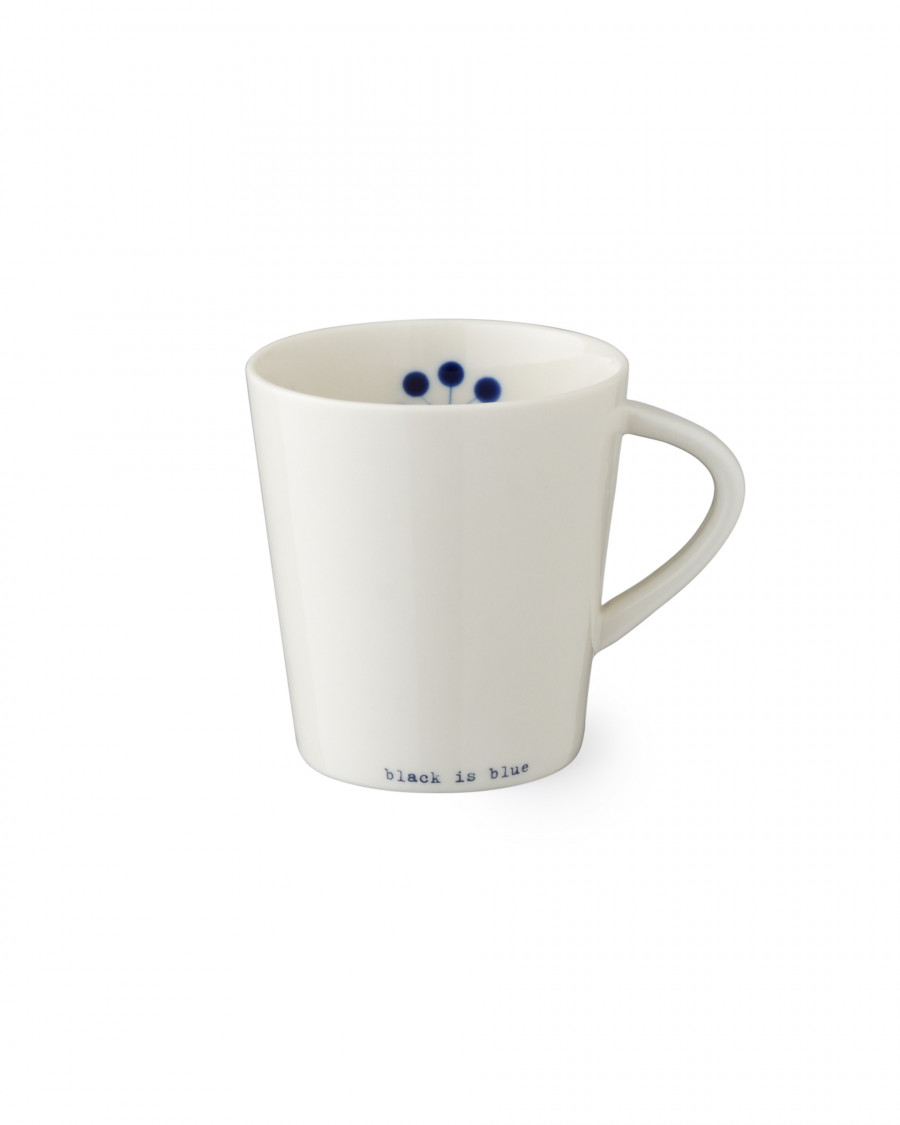 black is blue cup with handle-large