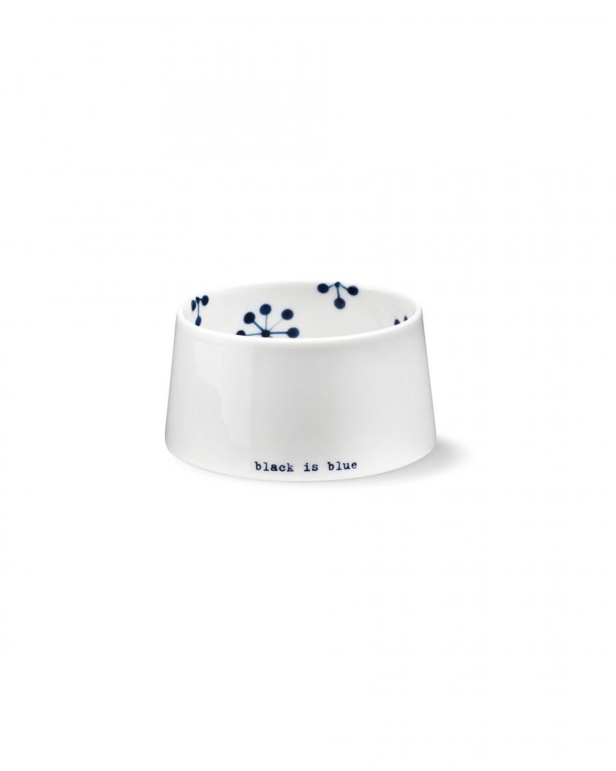 black is blue concave bowl