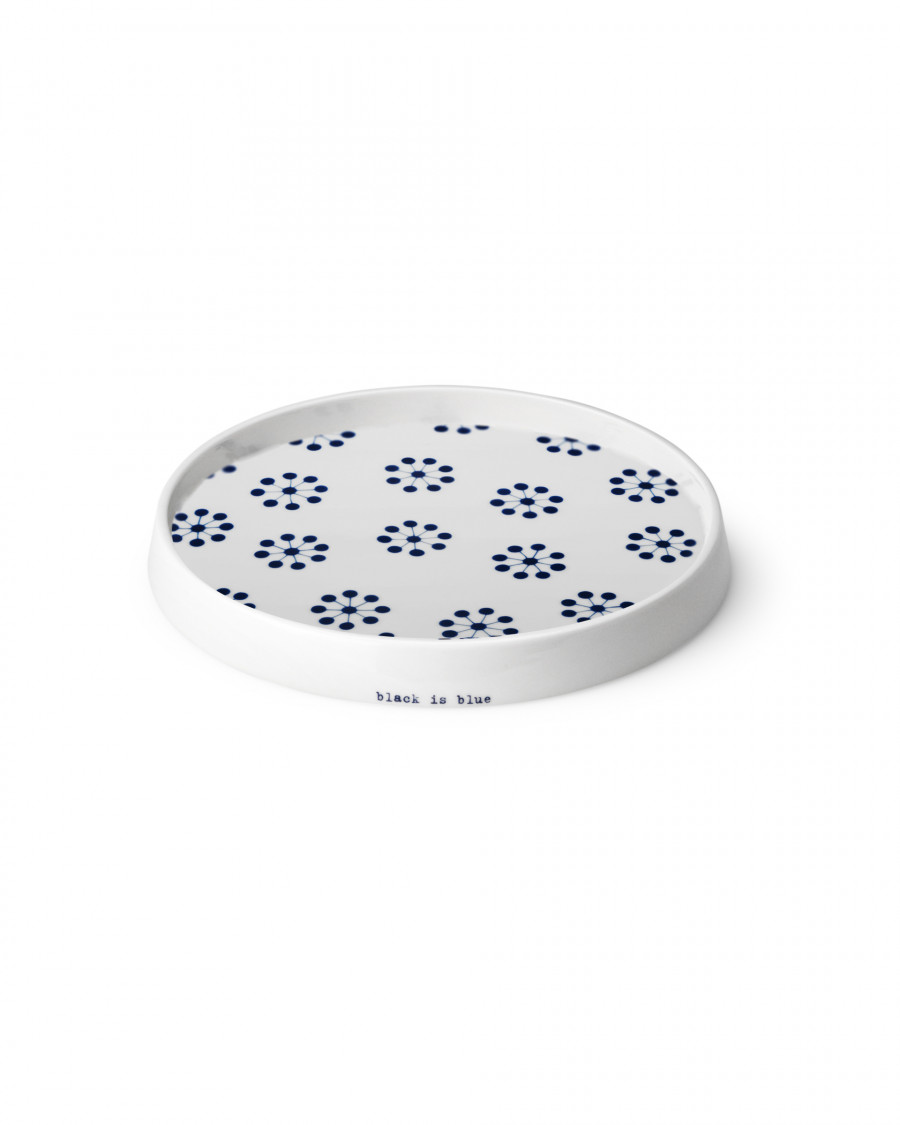 black is blue concave tray-mini