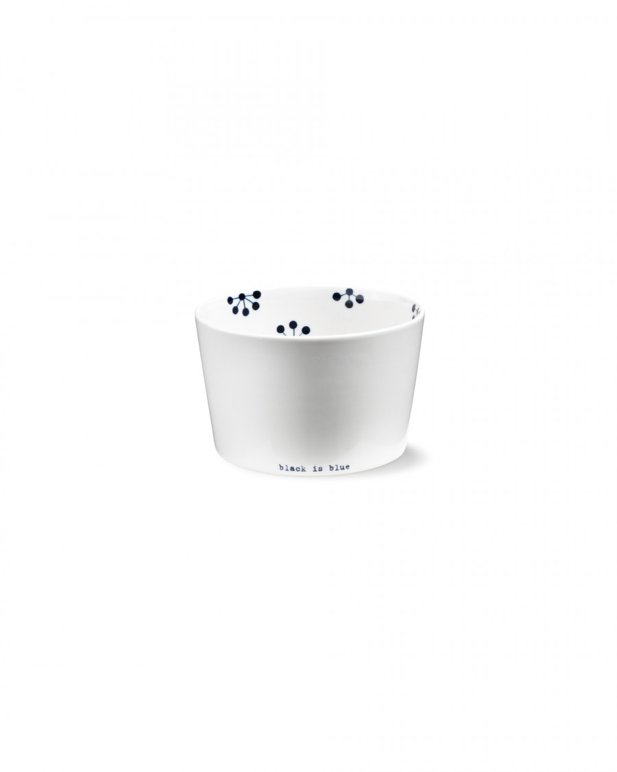 black is blue convex bowl