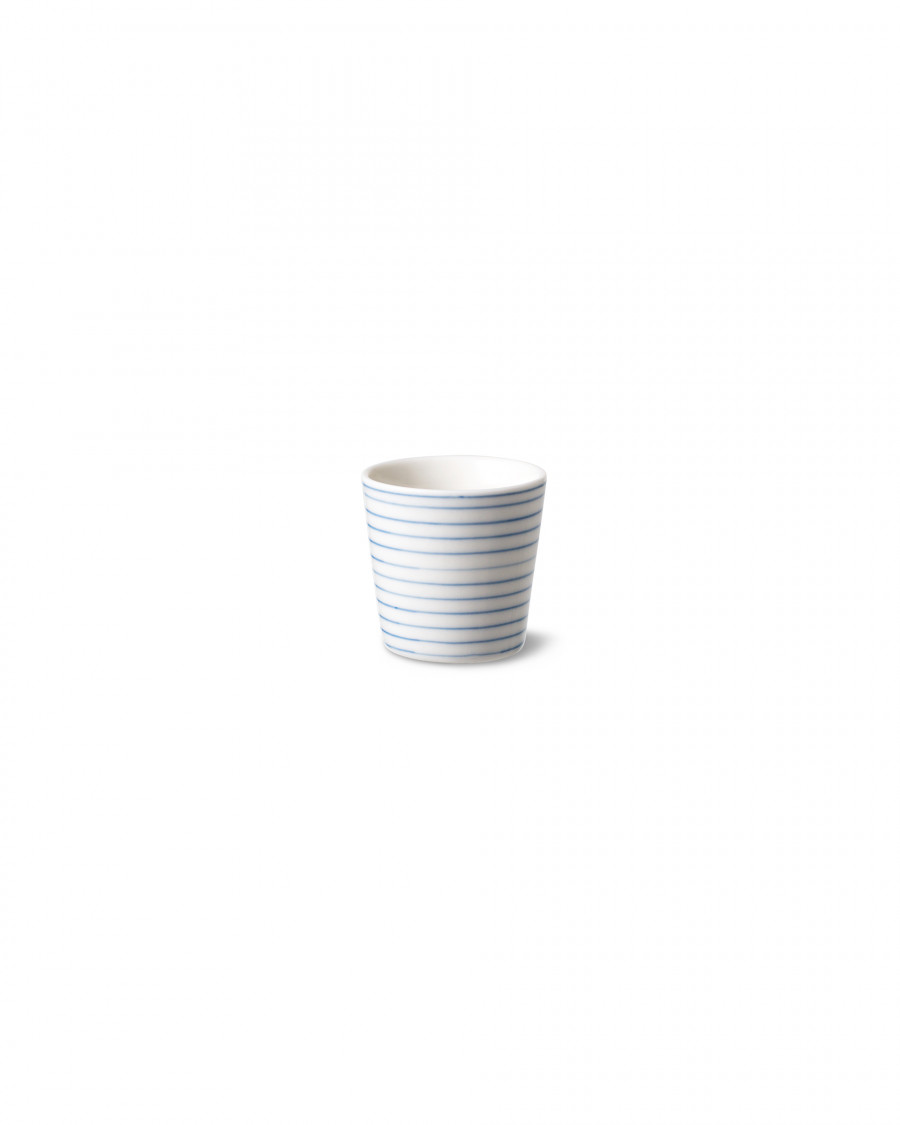 stripes egg cup narrow-blue