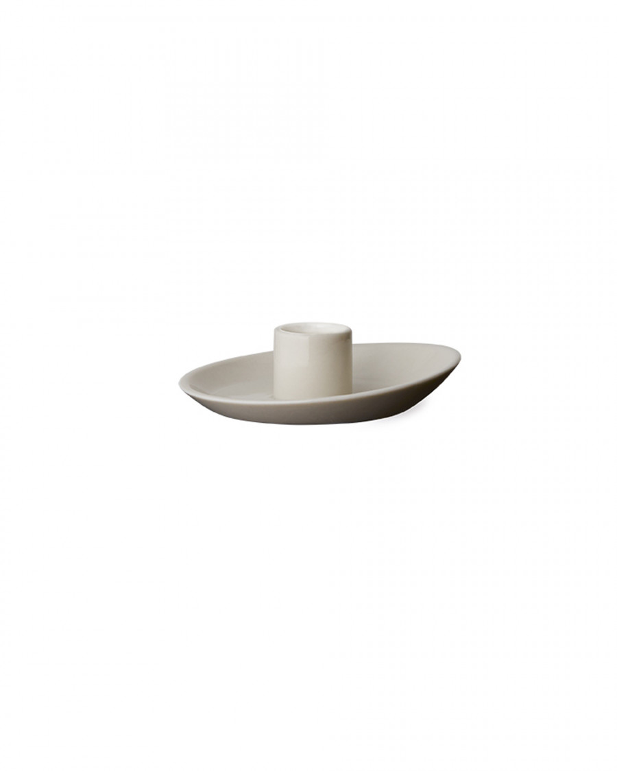 tilt candle holder-white