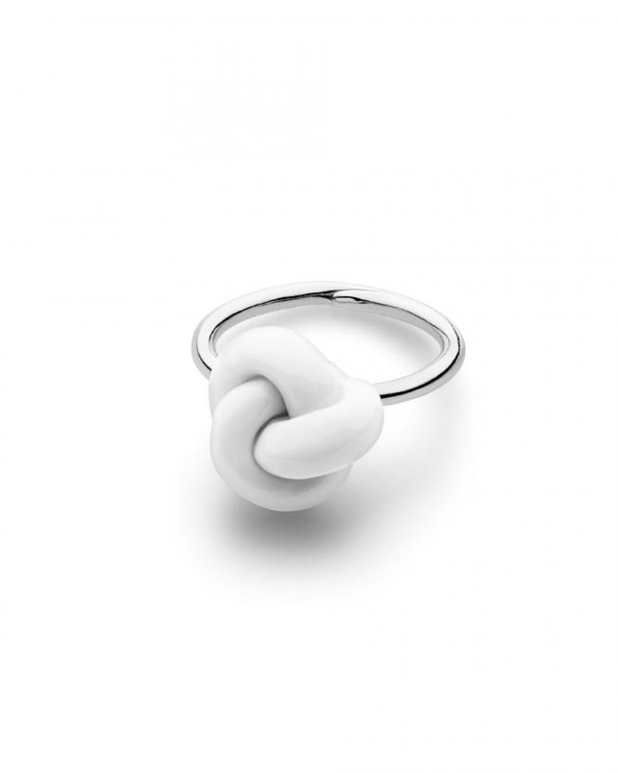 knots finger ring-white