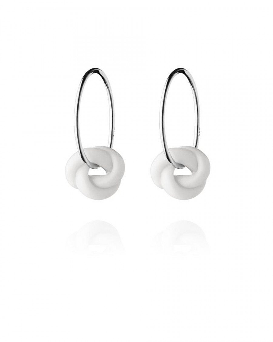 knots hoops small silver-white