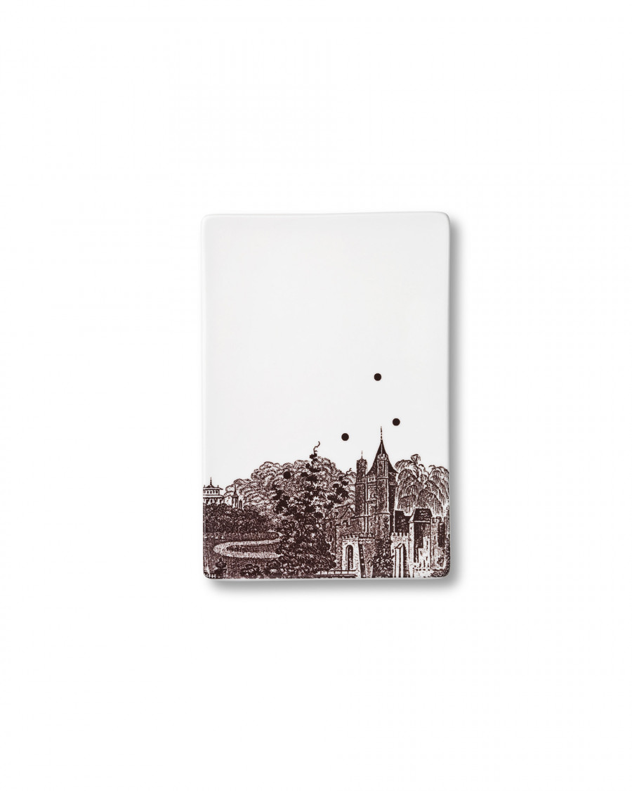 Ruth M tile landscape-brown small