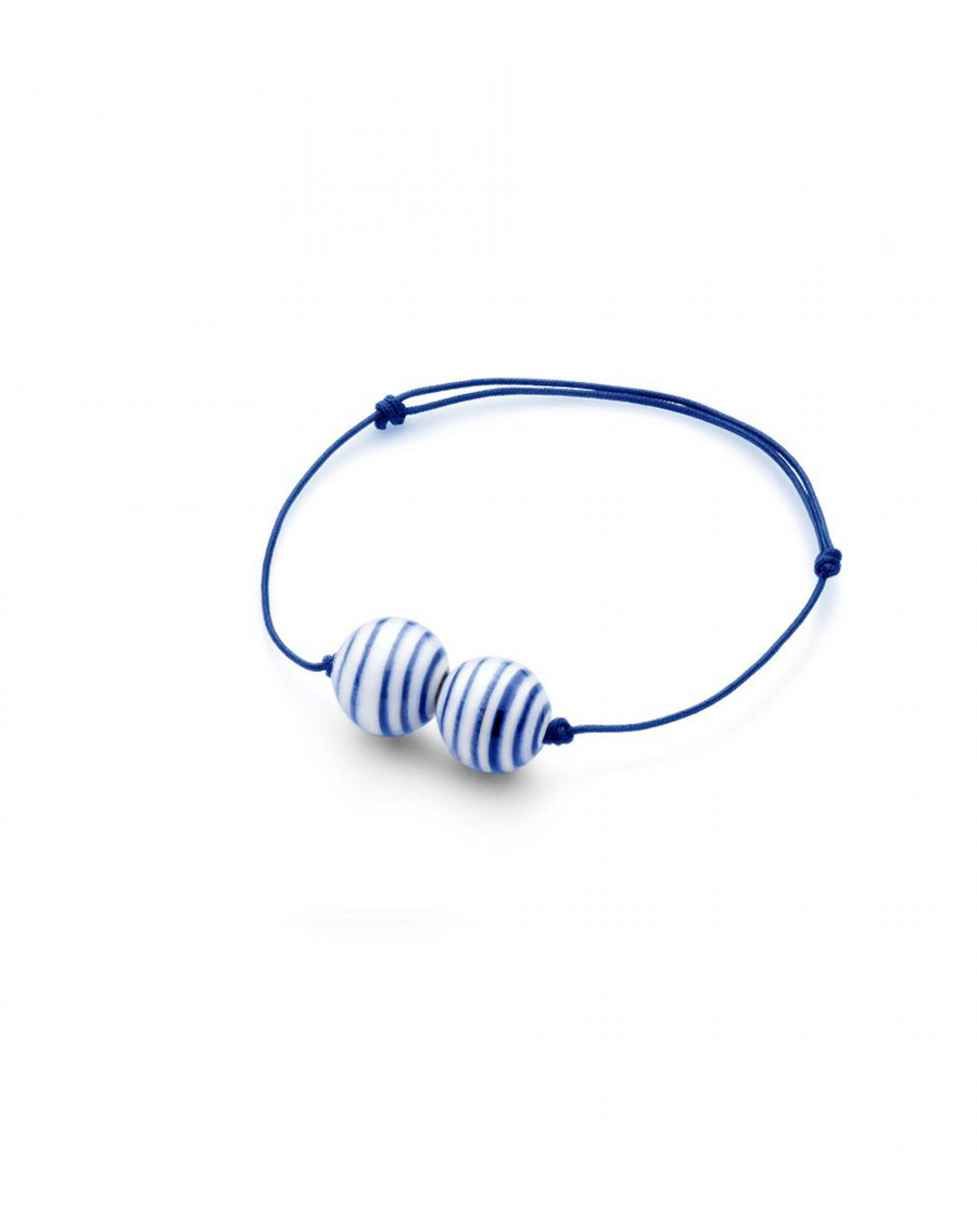 stripes bracelet two pearl narrow