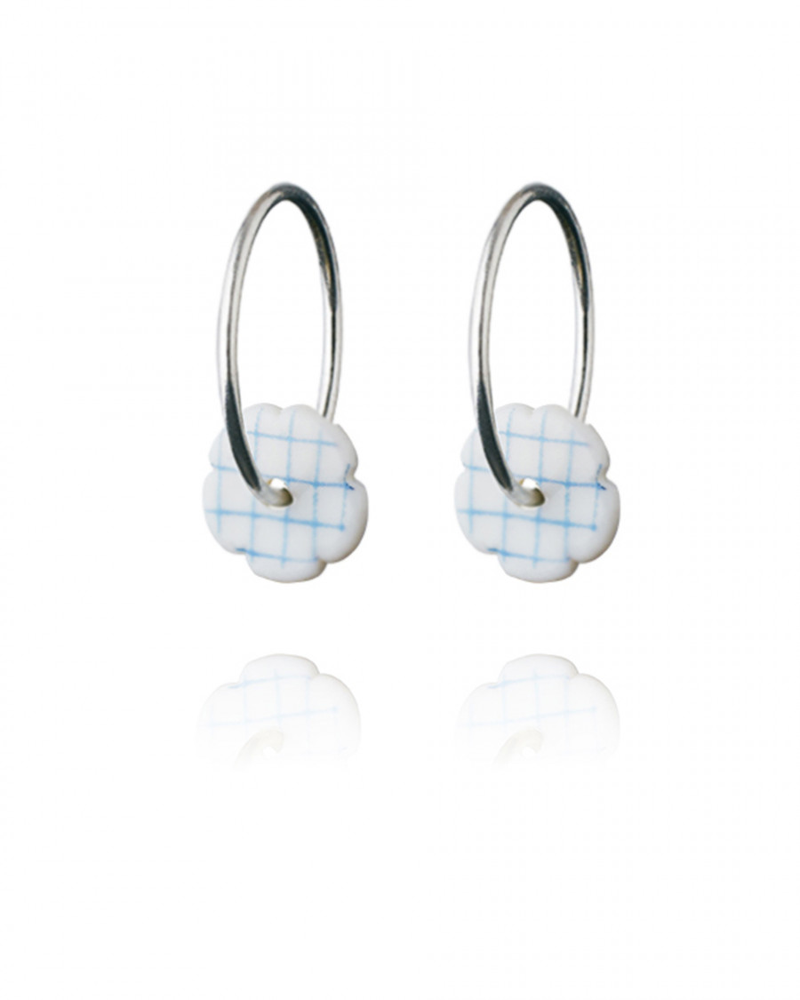 stripes hoops mini check-blue