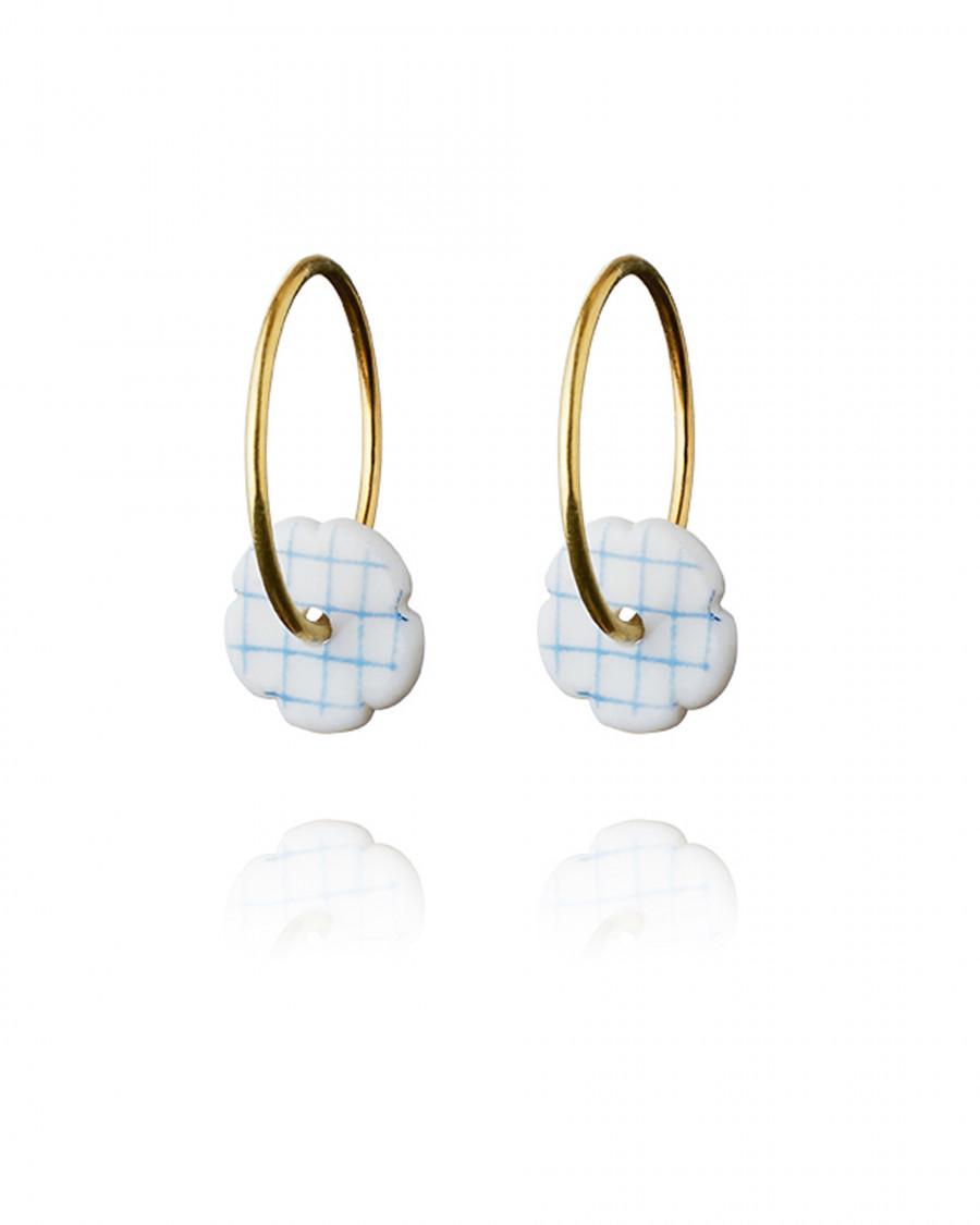 stripes hoops mini gold check-blue