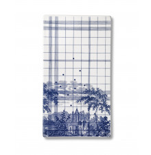 Ruth M tile landscape-blue large