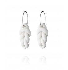 knots hoops large silver-white