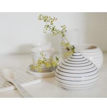 stripes drop vase low narrow-blue