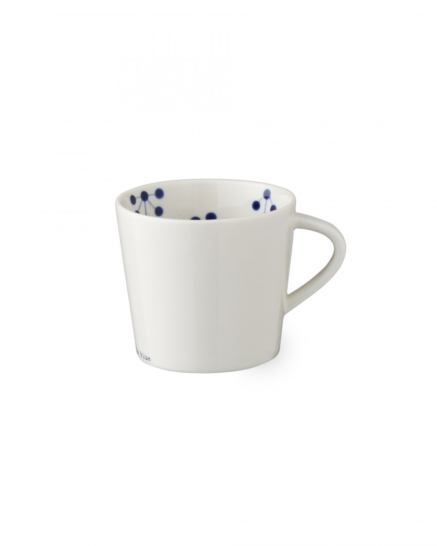black is blue cup with handle-small