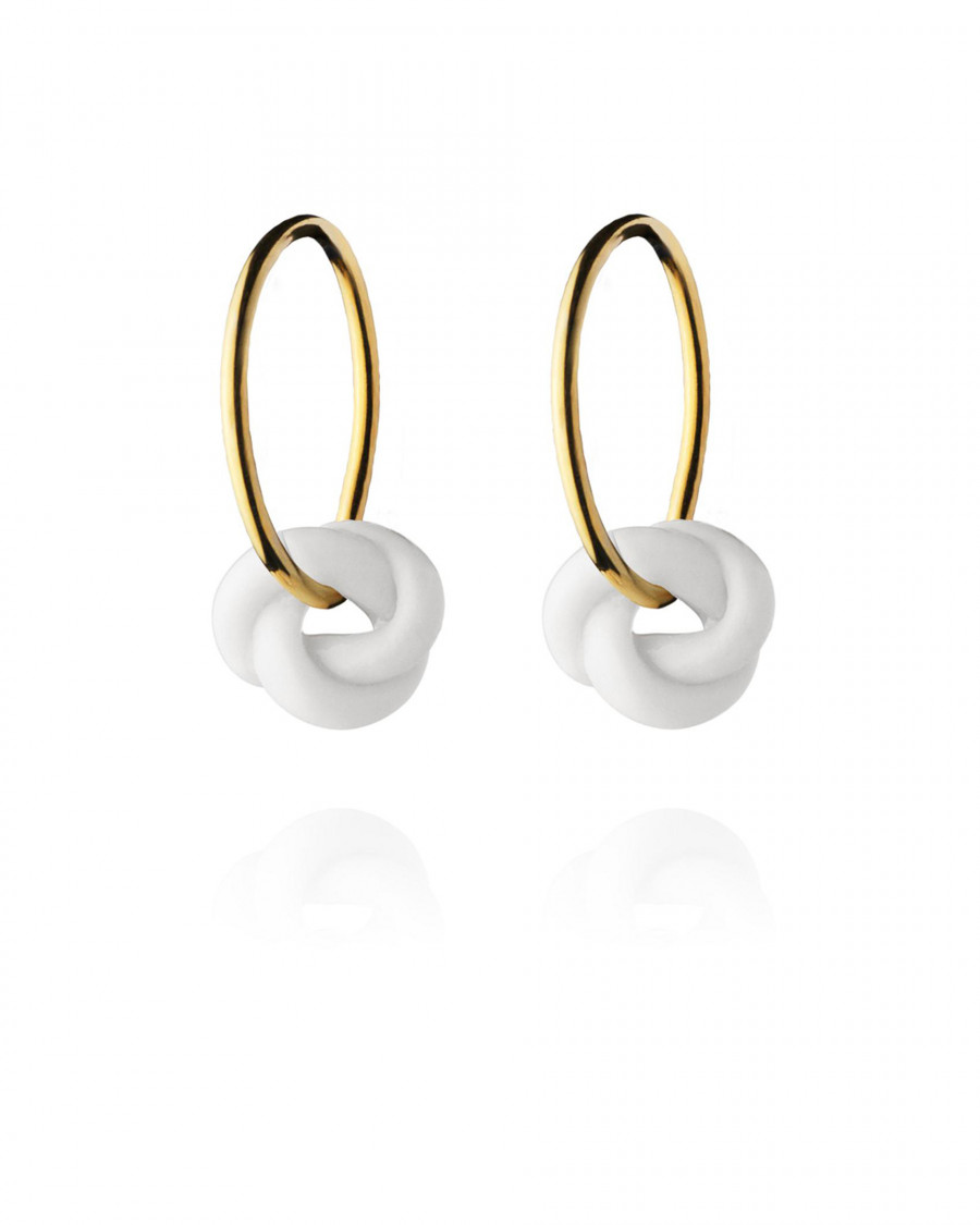 knots hoops small gold-white
