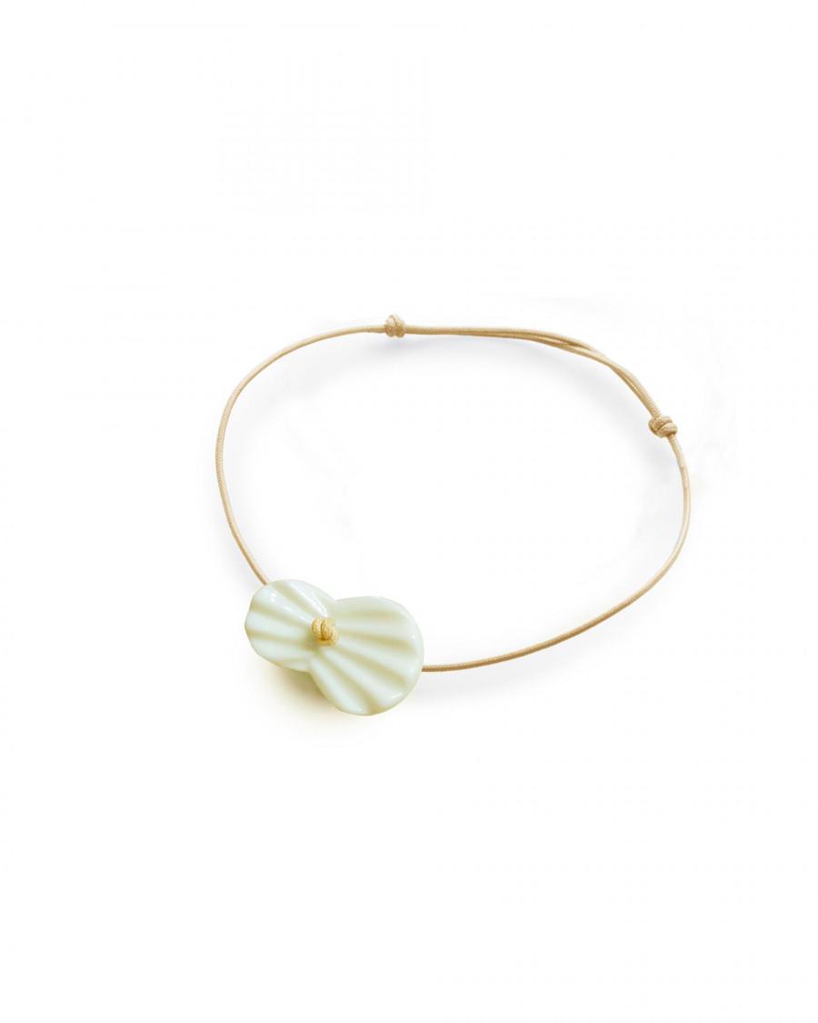 pleats bracelet-beige