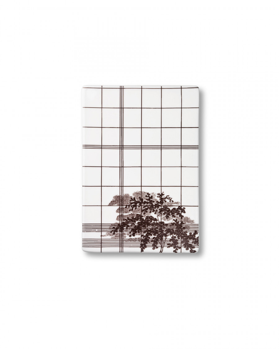 Ruth M tile square-brown small