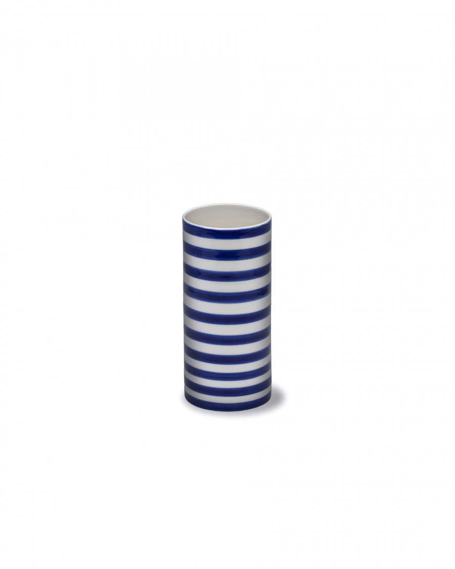 stripes vase wide