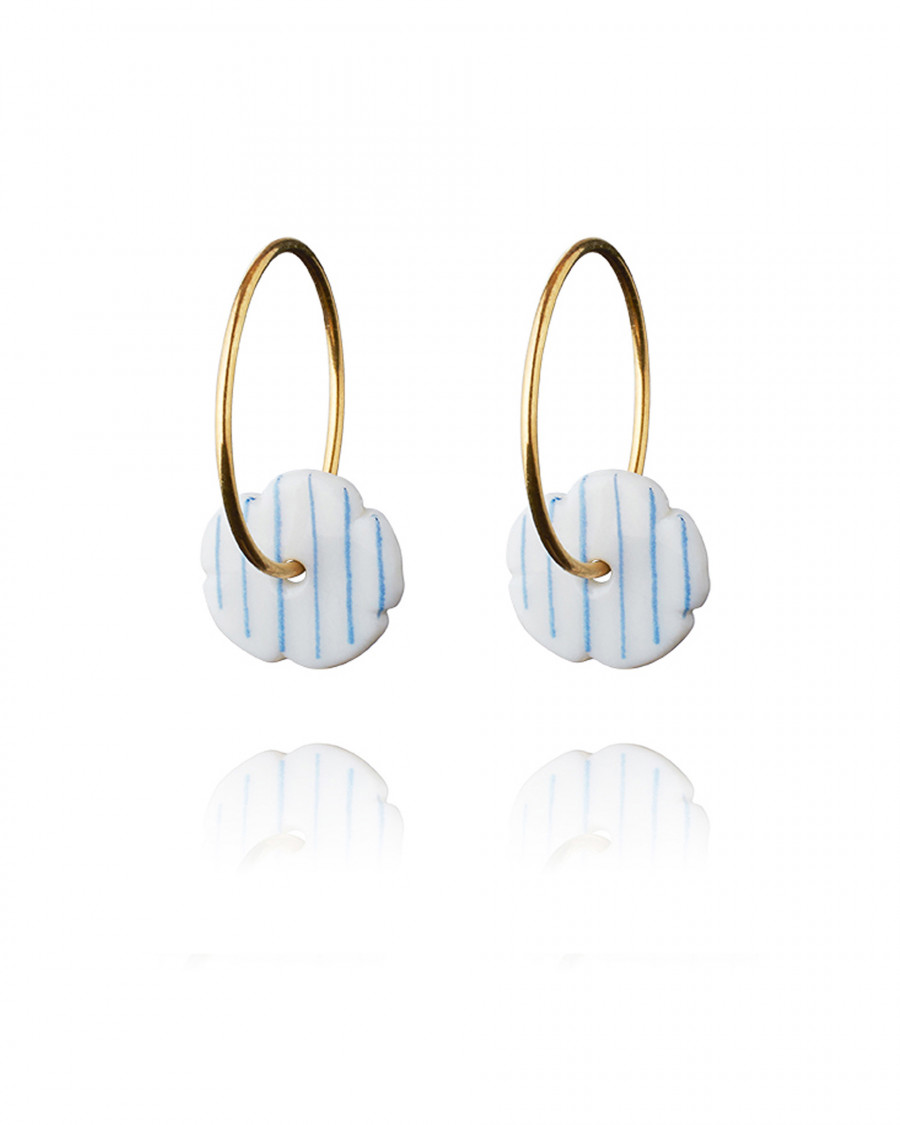 stripes hoops gold stripe-blue
