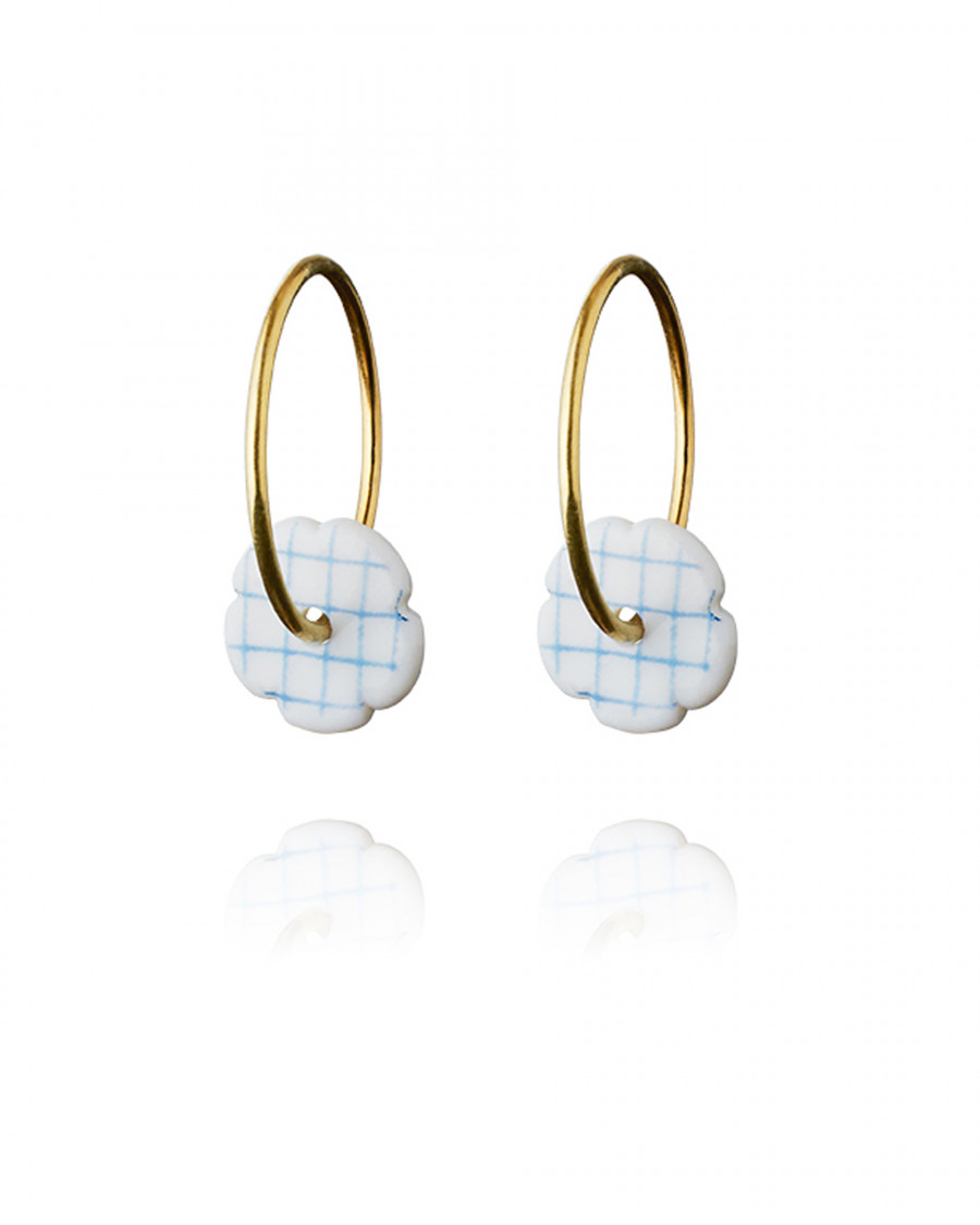 stripes hoops mini gold check-blue