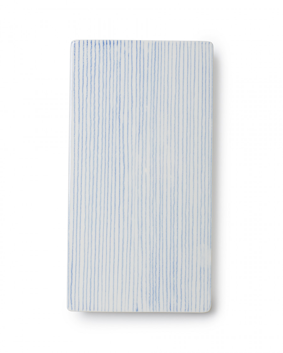 Stripes tile blue large