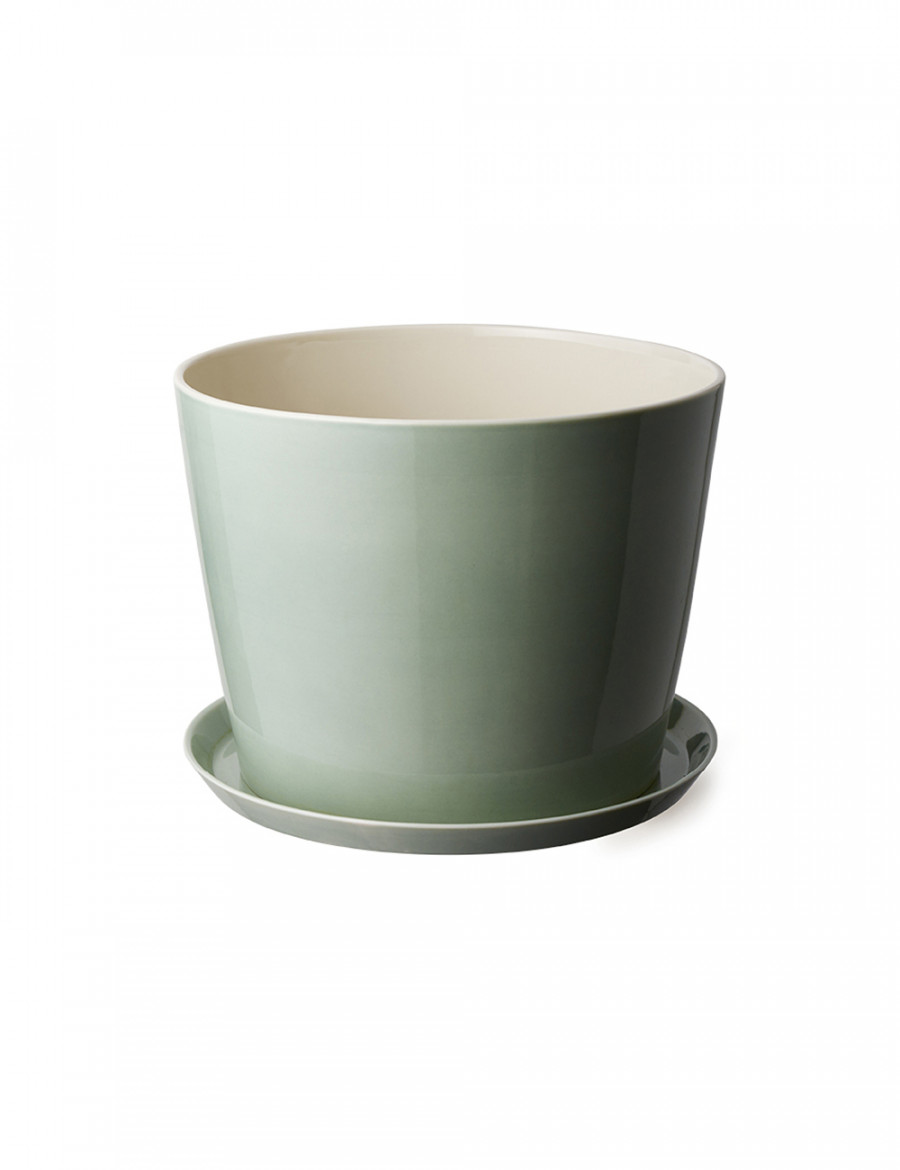 Bloom Flowerpot L with plate